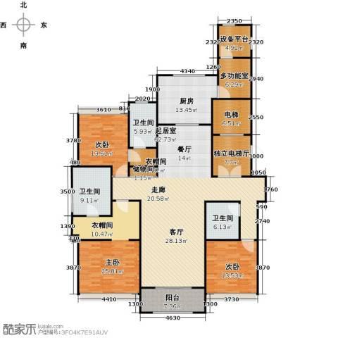 绿洲雅宾利花园三期3室0厅3卫1厨200.00㎡户型图