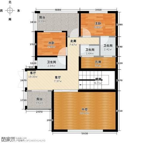 富盈加州阳光2室1厅3卫0厨103.00㎡户型图