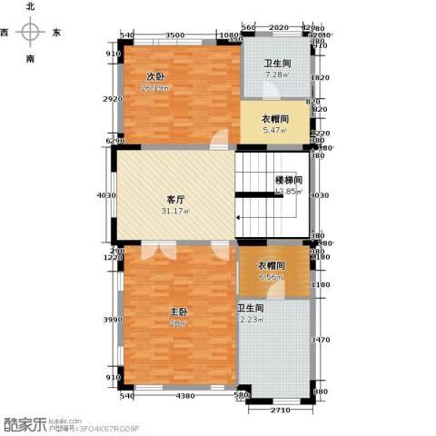 团泊湖光耀城2室1厅2卫0厨153.00㎡户型图