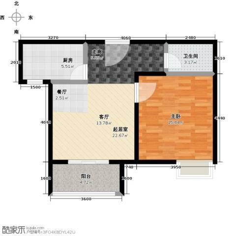 凯德新视界1室0厅1卫1厨59.00㎡户型图
