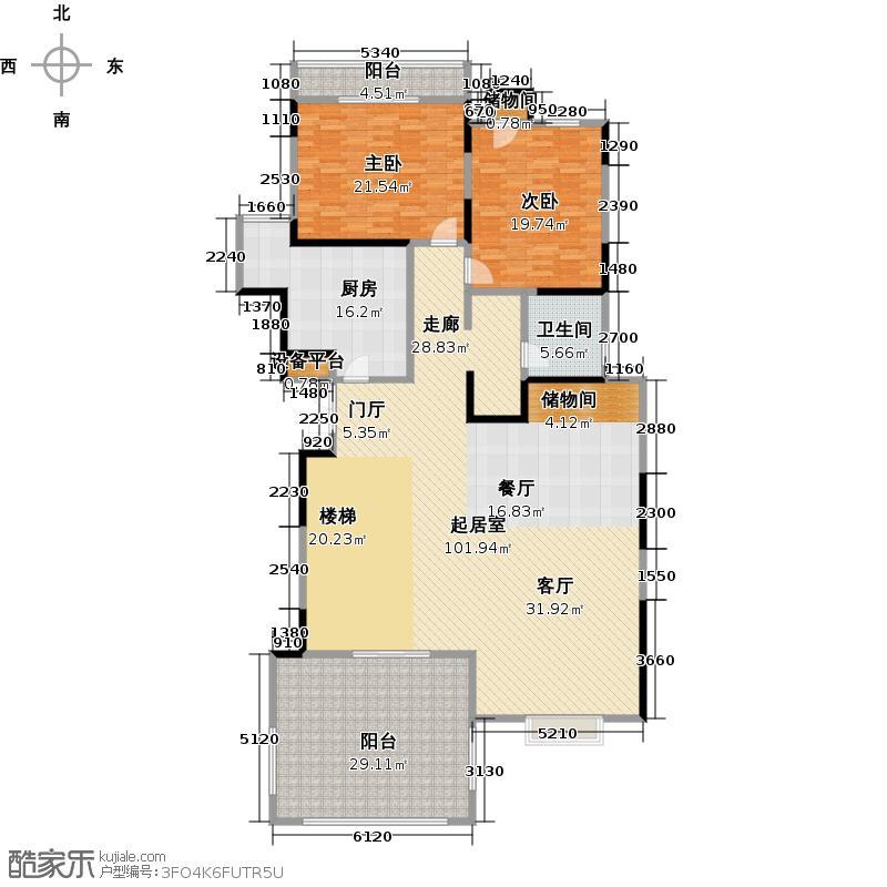 雅荷蓝湾B1层74米超大客厅、45米露台、双客卧户型2室1卫1厨
