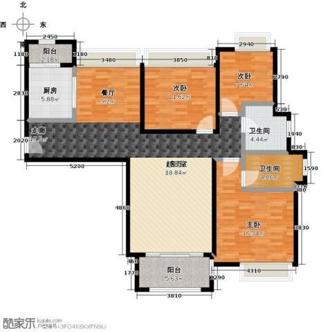 同润蓝美俊庭3室0厅2卫1厨120.00㎡户型图