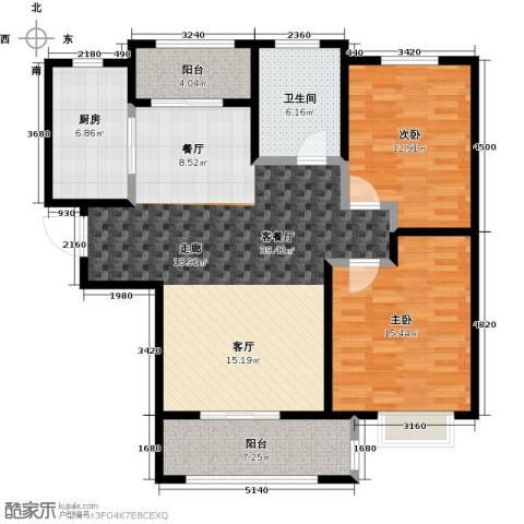 中星馨恒苑2室1厅1卫1厨107.00㎡户型图