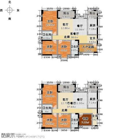 美利山公园城市7室2厅4卫2厨208.60㎡户型图