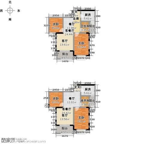 美利山公园城市4室2厅1卫2厨123.51㎡户型图