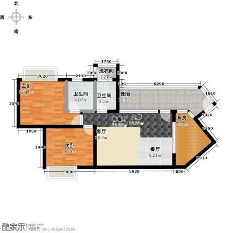 天御2室1厅2卫1厨105.00㎡户型图
