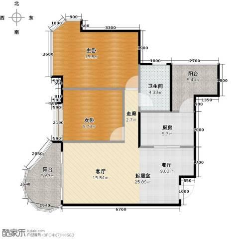 碧桂园・天玺湾2室0厅1卫1厨82.00㎡户型图