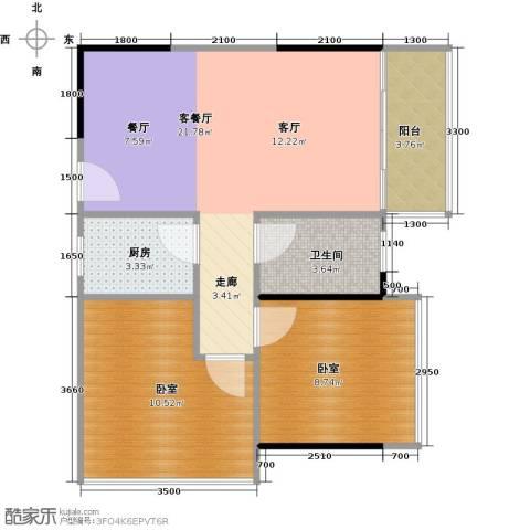 3号线城市公寓1厅1卫1厨70.00㎡户型图