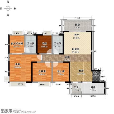 碧桂园凤凰城4室0厅2卫1厨141.00㎡户型图