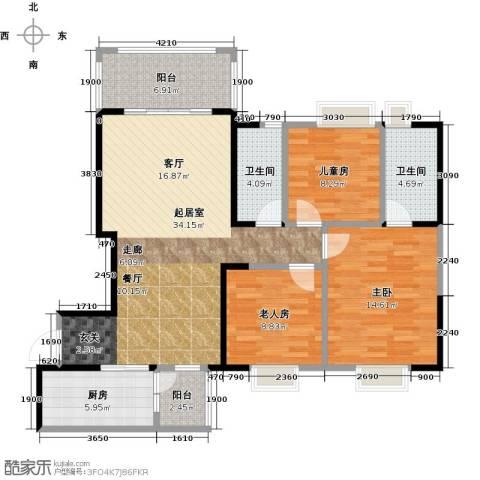 碧桂园凤凰城3室0厅2卫1厨116.00㎡户型图