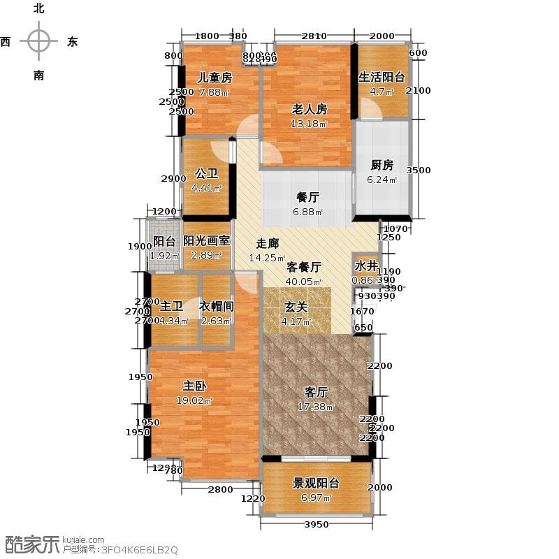 南沙奥园7栋/10栋1-4梯0102单位户型3室1厅1厨