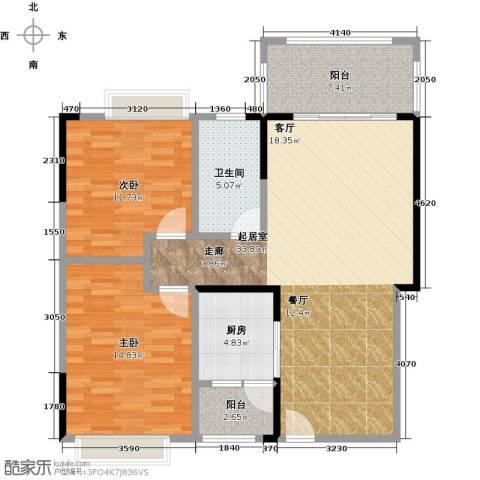 碧桂园凤凰城2室0厅1卫1厨88.00㎡户型图