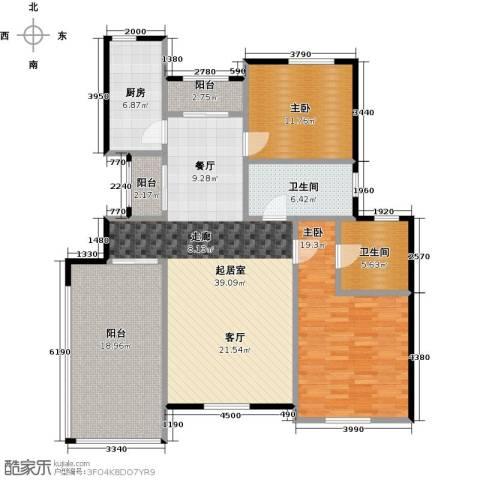 海上国际花园2室0厅2卫1厨156.00㎡户型图