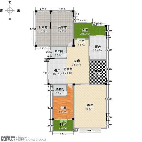 晋愉碧怡林畔东岸1室1厅2卫1厨452.00㎡户型图