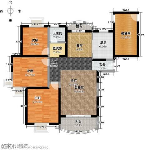 宝宸怡景园3室1厅1卫1厨117.00㎡户型图