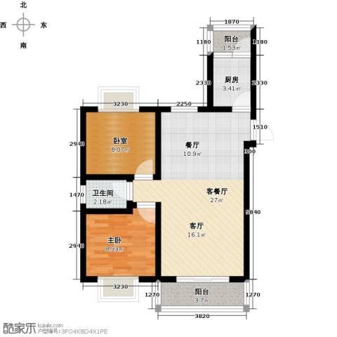 美集财富时代1室1厅1卫1厨80.00㎡户型图