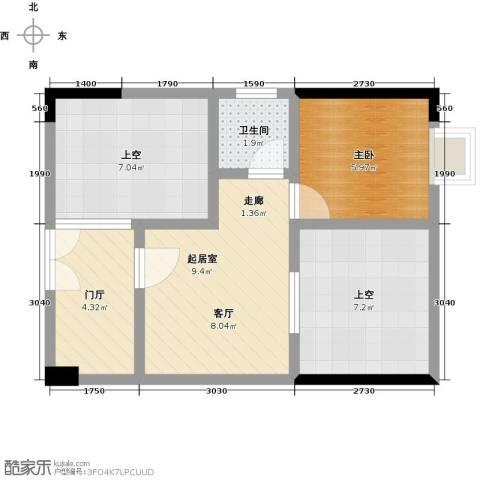 龙光城1室0厅1卫0厨41.00㎡户型图