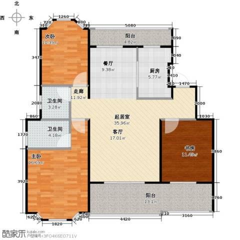 花田洋房3室0厅2卫1厨114.00㎡户型图