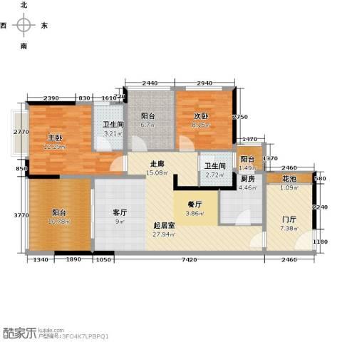 龙光城2室0厅2卫1厨97.00㎡户型图
