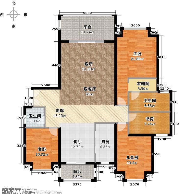 南沙奥园15栋02户型4室1厅2卫1厨