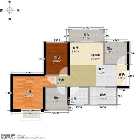 深业东城御园2室0厅1卫1厨72.00㎡户型图
