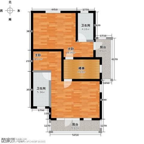 望京西府2室0厅2卫0厨100.00㎡户型图