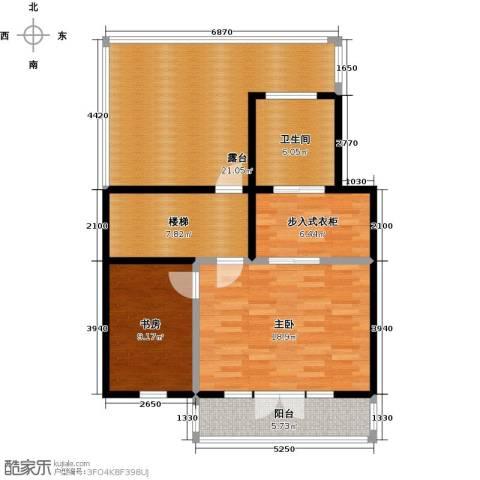 望京西府2室0厅1卫0厨106.00㎡户型图