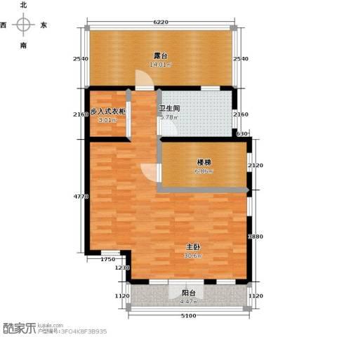 望京西府1室0厅1卫0厨92.00㎡户型图