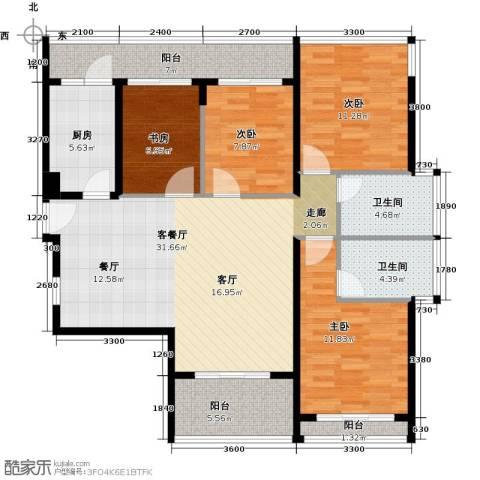 光明大第4室1厅2卫1厨98.18㎡户型图