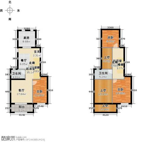 经纬城市绿洲海旋园3室0厅2卫1厨146.00㎡户型图