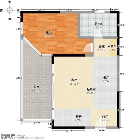 华润小径湾1室0厅1卫0厨80.00㎡户型图