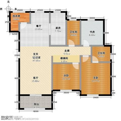 盐城恒隆花园3室0厅2卫1厨154.00㎡户型图