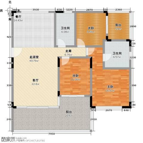 华润小径湾3室0厅2卫0厨135.00㎡户型图