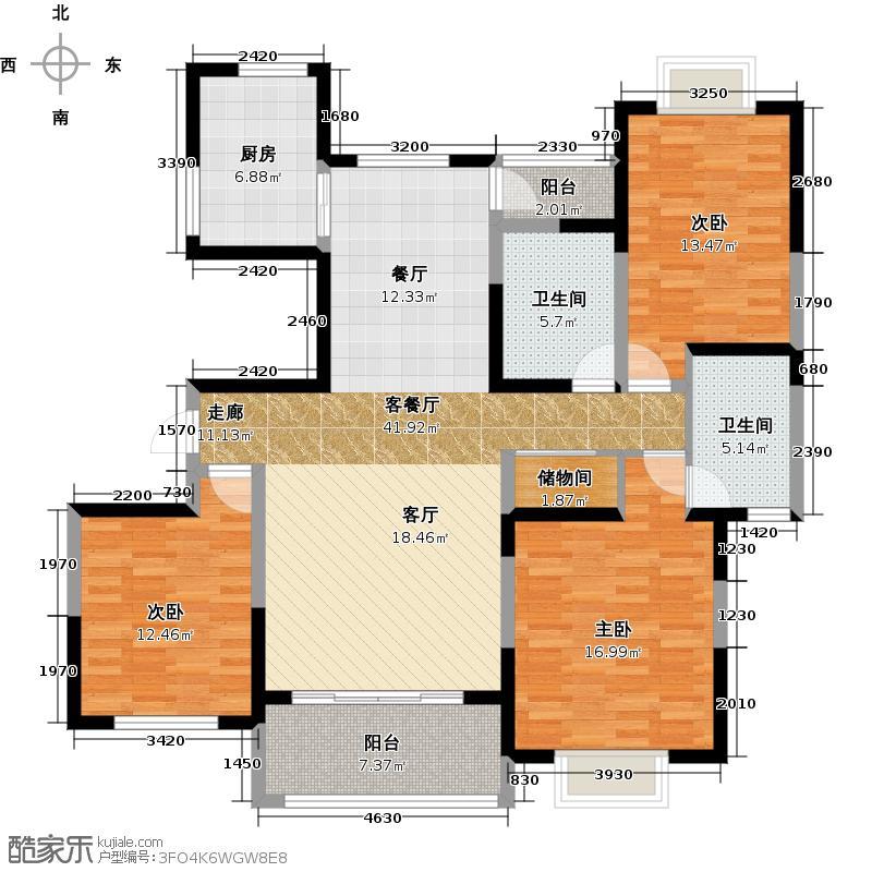 艺泰安邦户型3室1厅2卫1厨