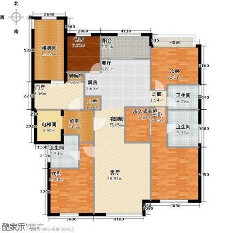 华润・润西山4室1厅3卫0厨170.78㎡户型图