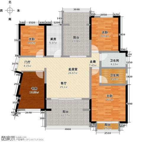 龙光城4室0厅2卫1厨129.00㎡户型图
