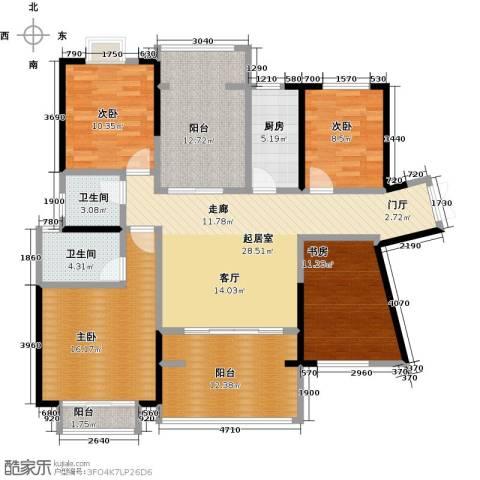 龙光城4室0厅2卫1厨130.00㎡户型图
