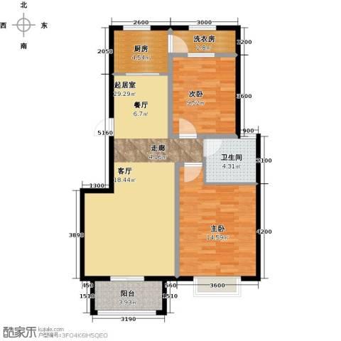 盐城恒隆花园2室0厅1卫1厨97.00㎡户型图