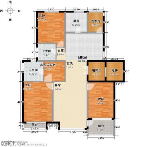浦江坤庭3室0厅2卫1厨139.00㎡户型图