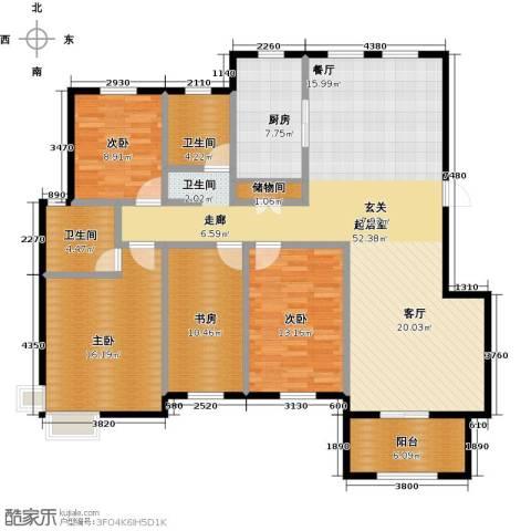 盐城恒隆花园4室0厅2卫1厨175.00㎡户型图