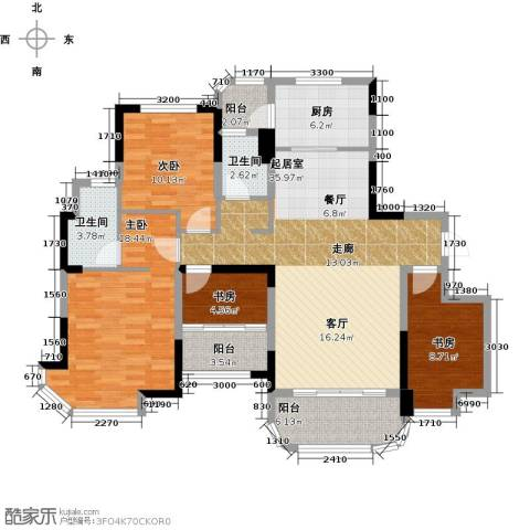 福鼎碧桂园4室0厅2卫1厨134.00㎡户型图