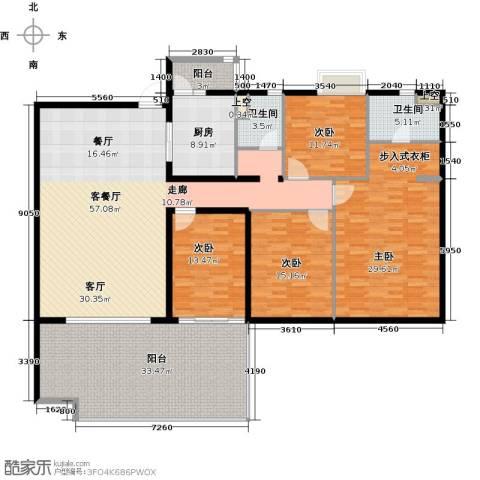 碧桂园凤凰城4室1厅2卫1厨200.00㎡户型图