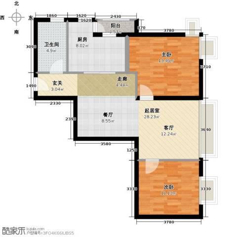 荟锦2室0厅1卫1厨84.00㎡户型图