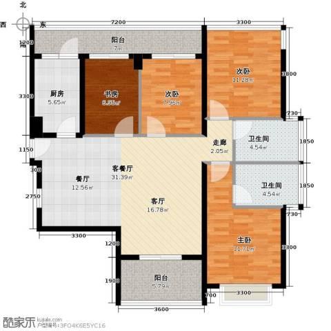 光明大第4室1厅2卫1厨96.82㎡户型图