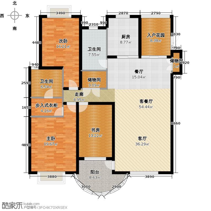 尚海湾豪庭房型户型3室1厅2卫1厨