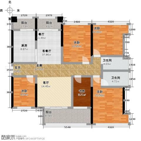 金亨利都荟首府5室1厅2卫1厨130.00㎡户型图