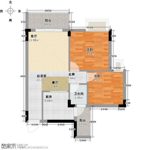 友田碧云轩2室0厅1卫1厨70.00㎡户型图