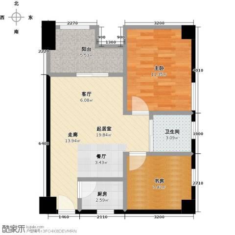 英祥春天广场2室0厅1卫1厨73.00㎡户型图