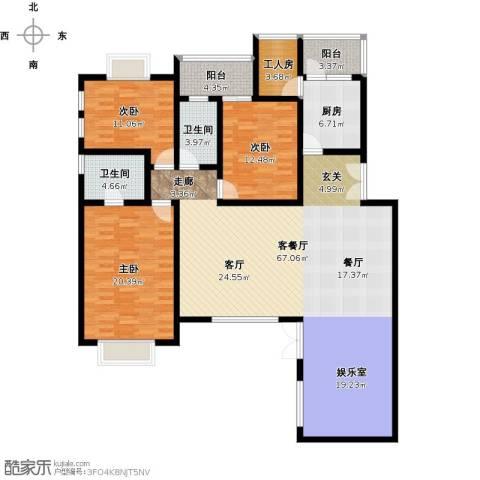 尚海湾豪庭3室1厅2卫1厨195.00㎡户型图