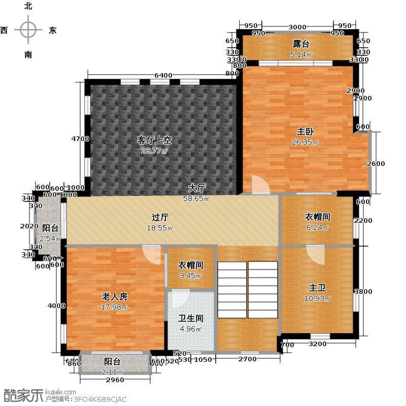南沙奥园狮子洋1号P35二层户型2室1卫